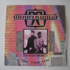 Discos de vinilo: MANTRONIX ( TAKE YOUR TIME - DON'T YOU WANT MORE ) 1990 MAXI 45 CAPITOL RECORDS. Lote 37147049