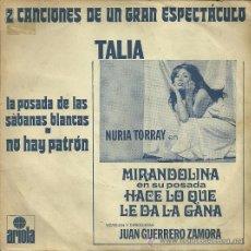 Discos de vinilo: NURIA TORRAY SINGLE SELLO ARIOLA EDITADO EN ESPAÑA DE LA OBRA MIRANDOLINA.... Lote 37108458