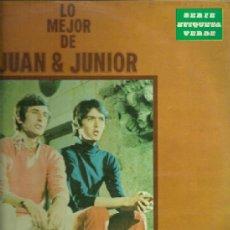 Discos de vinilo: JUAN Y JUNIOR LP SELLO ZAFIRO EDITADO EN ESPAÑA AÑO 1972. Lote 37108891