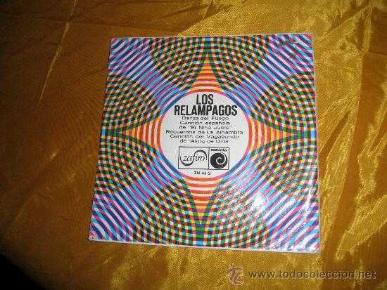 LOS RELAMPAGOS. DANZA DEL FUEGO + 3. EP. ZAFIRO 1966 (Música - Discos de Vinilo - EPs - Grupos Españoles 50 y 60)