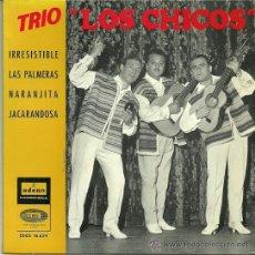 Discos de vinilo: TRIO LOS CHICOS EP SELLO EMI-ODEON AÑO 1964 EDITADO EN ESPAÑA. Lote 37116385