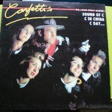 Discos de vinilo: CONFETTI,S 92 ...OUR FIRST ALBUM SOUND OF C CIN CHINA C DAY LP 89 CON ENCARTES EPIC PEPETO. Lote 37128638