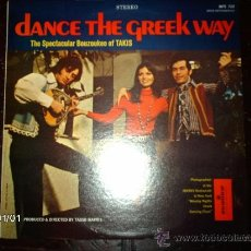 Discos de vinilo: TAKIS ELENIS - THE SPECTACULAR BOUZOUKEE OF TAKIS - DANCE THE GREEK WAY . Lote 37141673