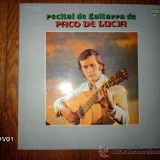 Discos de vinilo: PACO DE LUCÍA - RECITAL DE GUITARRA DE PACO DE LUCÍA . Lote 37141781