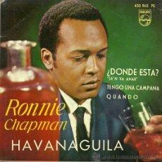 Discos de vinilo: RONNIE CHAPMAN EP SELLO PHILIPS AÑO 1963 EDITADO EN ESPAÑA. Lote 37145305