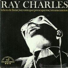 Discos de vinilo: RAY CHARLES EP SELLO HISPAVOX AÑO 1966 EDITADO EN ESPAÑA. Lote 37145398