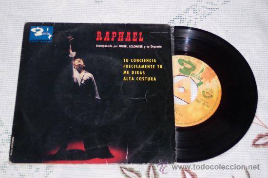 RAPHAEL 7´EP TU CONCIENCIA + 3 (1963) GRAN CONDICION (Música - Discos de Vinilo - EPs - Solistas Españoles de los 50 y 60)