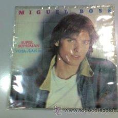 Discos de vinilo: SINGLE - MIGUEL BOSÉ - SUPER SUPERMAN - VOTA JUAN 26 - POP. Lote 37167216