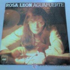 Discos de vinilo: SINGLE - ROSA LEON - AGUAFUERTE - LET IT BE - CANTAUTORA - 1978 - CBS. Lote 37168092