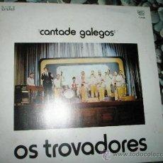 Discos de vinilo: LP-LOS TROVADORES-CANTADE GALEGOS-1980-BRINCA-12 CANCIONES-.. Lote 37170134
