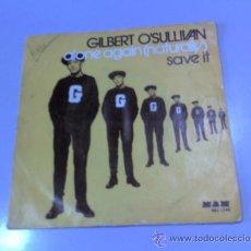 Discos de vinilo: SINGLE - GILBERT O'SULLIVAN - ALONE AGAIN (NATURALLY) SAVE IT - 1972 - COLUMBIA. Lote 37171577