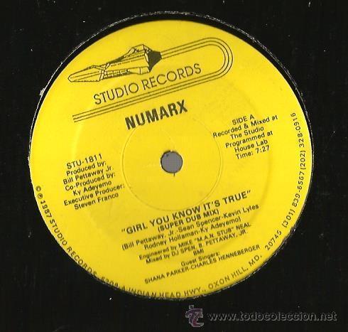 MAXI STUDIO RECORDS : NUMARX : GIRL YOU KNOW IT´S TRUE (Música - Discos de Vinilo - Maxi Singles - Electrónica, Avantgarde y Experimental)