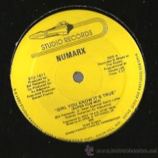Discos de vinilo: MAXI STUDIO RECORDS : NUMARX : GIRL YOU KNOW IT´S TRUE . Lote 37175204