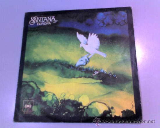 SINGLE - SANTANA - EUROPA - LLEVAME CONTIGO - 1976 - CBS (Música - Discos - Singles Vinilo - Jazz, Jazz-Rock, Blues y R&B)