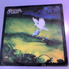 Discos de vinilo: SINGLE - SANTANA - EUROPA - LLEVAME CONTIGO - 1976 - CBS. Lote 37176425