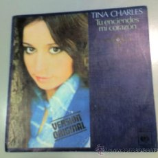 Discos de vinilo: TINA CHARLES - YOU SET MY HEART ON FIRE - FIRE - 1975 - CBS. Lote 37208631
