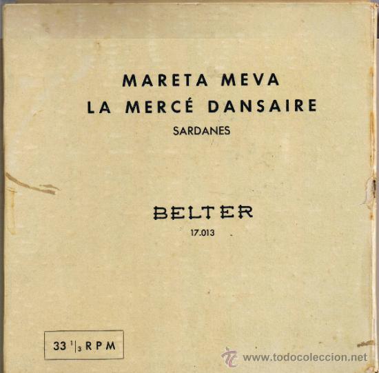 Discos de vinilo: MARETA MEVA - LA MERCÉ DANSAIRE - COBLA BARCELONA - JOSÉ COLL -BELTER 17013 - VER DESCRIPCIÓN-FOTOS - Foto 2 - 37174567