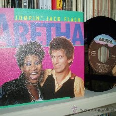 Discos de vinilo: ARETHA WITH KEITH RICHARDS ROLLING STONES SPAIN. Lote 51435494