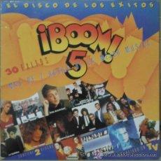 Discos de vinilo: BOOM 5- EL DISCO DE LOS EXITOS AÑO 1989. Lote 37200106