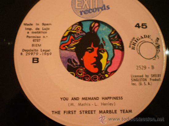 Discos de vinilo: the first street marble team. honey love + you and me and happiness. año 1969 - Foto 2 - 37200404