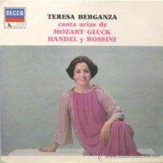Discos de vinilo: TERESA BERGANZA CANTA ARIAS DE MOZART GLUCK HANDEL Y ROSSINI LP DECCA 1983. Lote 37201785