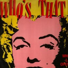 Discos de vinilo: MAXI WHO´S THAT MIX ( MARILYN MONROE EN LA FUNDA + CANCIONES DE MADONNA ). Lote 37203537