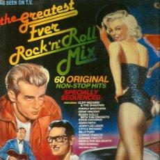 Discos de vinilo: DOBLE LP ROCK AND ROLL MIX ( MARILYN MONROE, JAMES DEAN Y BUDDY HOLLY EN LA FUNDA). Lote 37203668