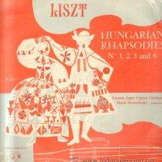 Discos de vinilo: F.LISZT. HUNGARIAN RHAPSODIES Nº 1,2,3 AND 6 D-CLASICA-1444. Lote 37205491
