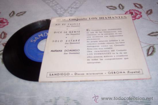 Discos de vinilo: LOS DIAMANTES 7´EP ASI ES CALELLA + 3 (1966) *RAREZA* Spanish garage beat 60¨S - Foto 2 - 37219617