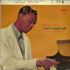 Discos de vinilo: NAT KING COLE EP SELLO CAPITOL AÑO 1958 EDITADO EN ESPAÑA.. Lote 37219733