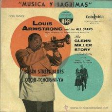 Discos de vinilo: LOUIS ARMSTRONG SINGLE SELLO COLUMBIA AÑO 1958 EDITADO EN ESPAÑA. . Lote 37220273