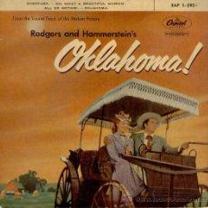 Discos de vinilo: OKLAHOMA ( B. S. O. ) OH, WHAT A BEAUTIFUL MORNIN' + 3 EP AÑOS 50 VG++ / VG++. Lote 37222897