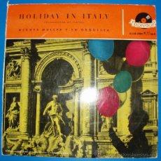 Discos de vinilo: WERNER MÜLLER - HOLIDAY IN ITALY. Lote 37238619