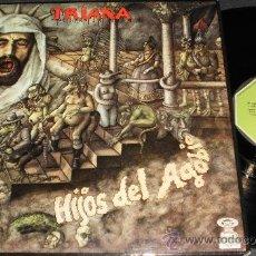 Discos de vinilo: TRIANA LP HIJOS DEL AGOBIO ESPAÑA 1977. Lote 269705828