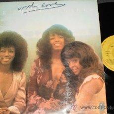 Discos de vinilo: THE THREE DEGREES LP WITH LOVE ESPAÑA 1975. Lote 37242193