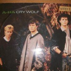 Discos de vinilo: EP A-HA – CRY WOLF – WARNER 1986 - . Lote 37242824