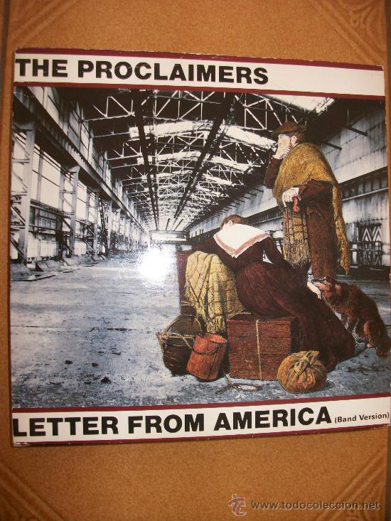 EP THE PROCLAIMERS – LETTER FROM AMERICA – BAND VERSION – CHRYSALIS – 1987 (Música - Discos de Vinilo - EPs - Pop - Rock - New Wave Extranjero de los 80)