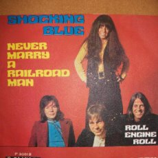 Discos de vinilo: EP SHOCKING BLUE – NEVER MARRY A RAILROAD MAN – POPLANDIA – ROLL ENGINE ROLL – SPANISH EDIT - . Lote 37258008