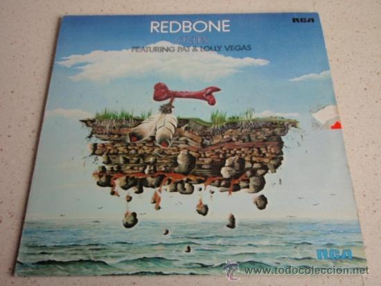 REDBONE FEATURING PAT & LOLLY VEGAS ( CYCLES ) 1977 - GERMANY LP33 RCA (Música - Discos - LP Vinilo - Pop - Rock - Internacional de los 70)