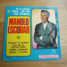 Discos de vinilo: SINGLE MANOLO ESCOBAR,1967.. Lote 37264391