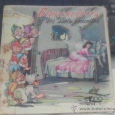 Discos de vinilo: BLANCANIEVES Y LOS SIETE ENANITOS DISCO CUENTO PORTADA ABIERTA EKIPO 1969 FIFI. Lote 37271967