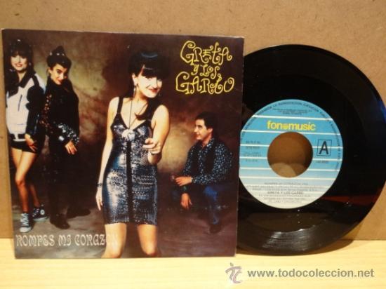 GRETA Y LOS GARBO. ROMPES MI CORAZÓN. SINGLE / FONOMUSIC 1990. BUENA CALIDAD. ****/*** (Música - Discos - Singles Vinilo - Grupos Españoles de los 90 a la actualidad)