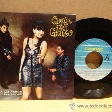Discos de vinilo: GRETA Y LOS GARBO. ROMPES MI CORAZÓN. SINGLE / FONOMUSIC 1990. BUENA CALIDAD. ****/***. Lote 37277274