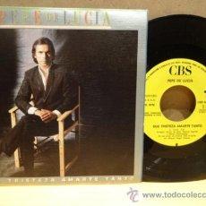 Discos de vinilo: PEPE DE LUCÍA. QUE TRISTEZA AMARTE TANTO. SINGLE CBS - PROMO 1987. IMPECABLE. ****/****. Lote 37277316