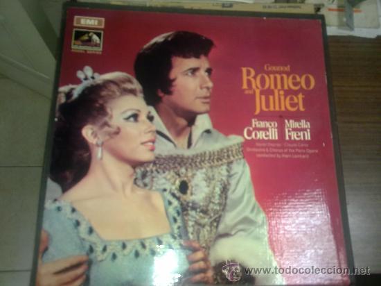 ROMEO Y JULIETA CON FRANCO CORELLI Y MIRELLA FRENI (Música - Discos - LP Vinilo - Clásica, Ópera, Zarzuela y Marchas)