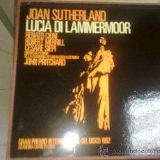 Discos de vinilo: JOAN SUTHERLAND, LUCIA DI LAMMERMOOR VINILO LP 1962. Lote 37138599