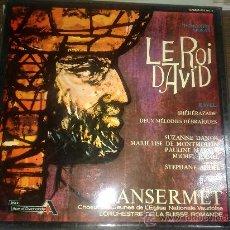 Discos de vinilo: EL REY DAVID, RAVEL, SHEHERAZADE DE RENÈ MORAX 1972 VINILO LP. Lote 37138692