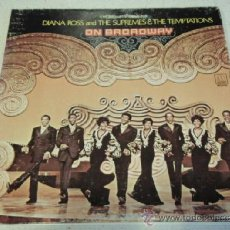 Discos de vinilo: DIANA ROSS & THE SUPREMES & THE TEMPTATIONS - ON BROADWAY USA-1969 LP MOTOWN RECORDS. Lote 37278662