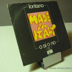 Discos de vinilo: MADE IN ITALY LONTANO SINGLE VINILO. Lote 37280762