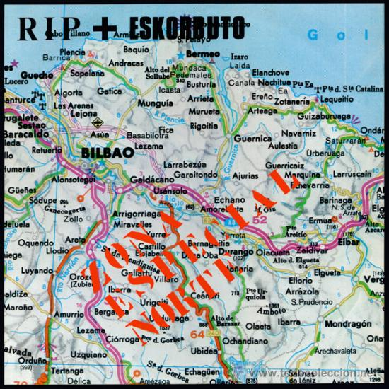 LP ESKORBUTO + RIP ZONA ESPECIAL NORTE PUNK VINILO AZUL SPLATTERED KBD (Música - Discos - LP Vinilo - Punk - Hard Core)